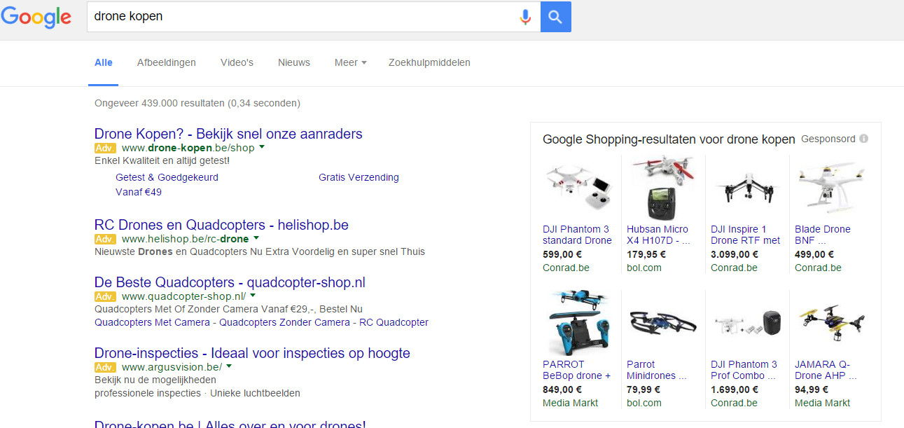 google shopping campagne advertenties