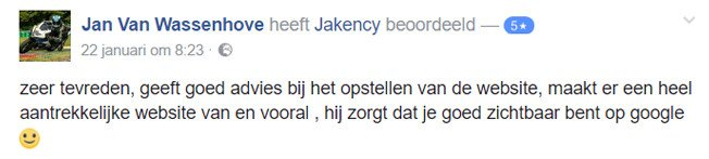 SEO testimonial over jakency