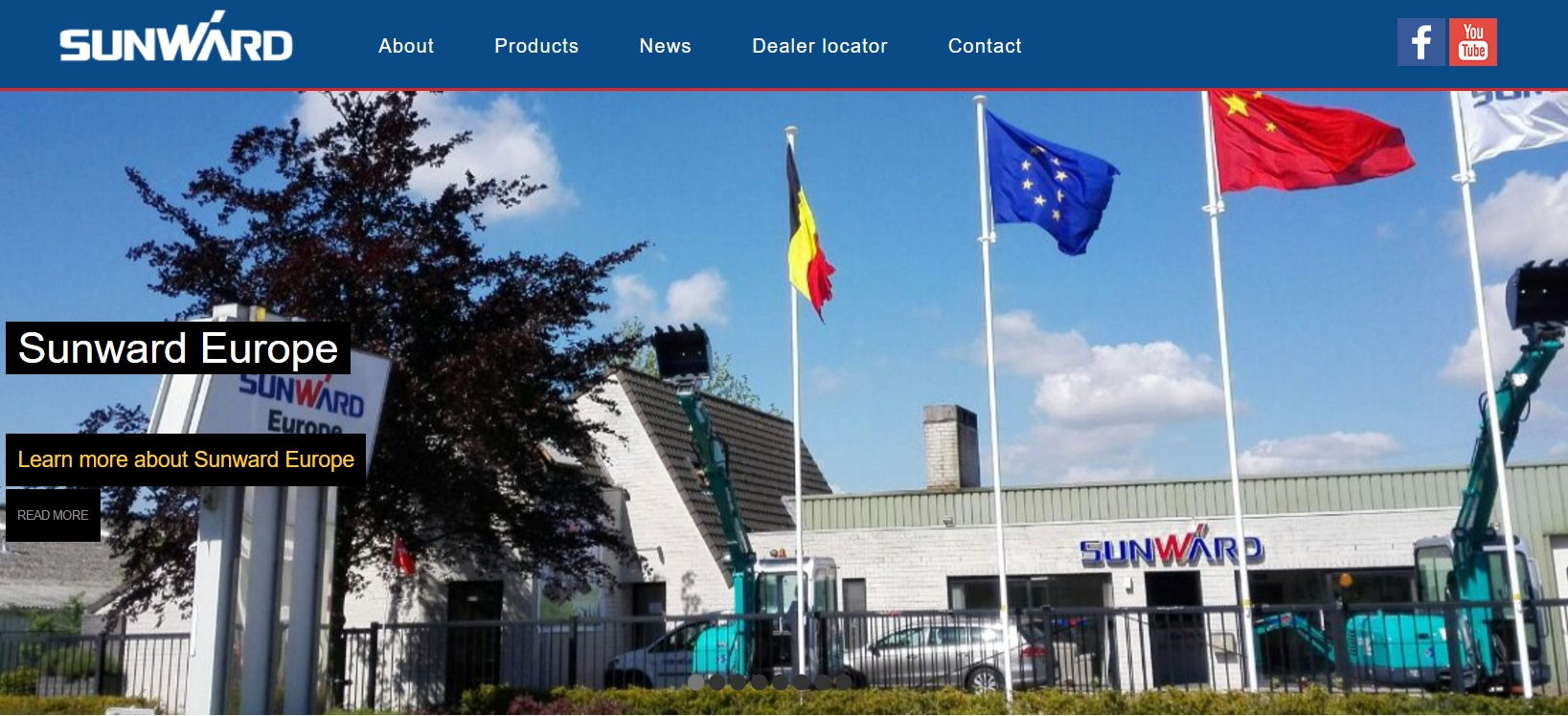 Sunward Europe | Webdesign Beringen