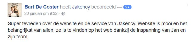 Webdesign testimonial over jakency