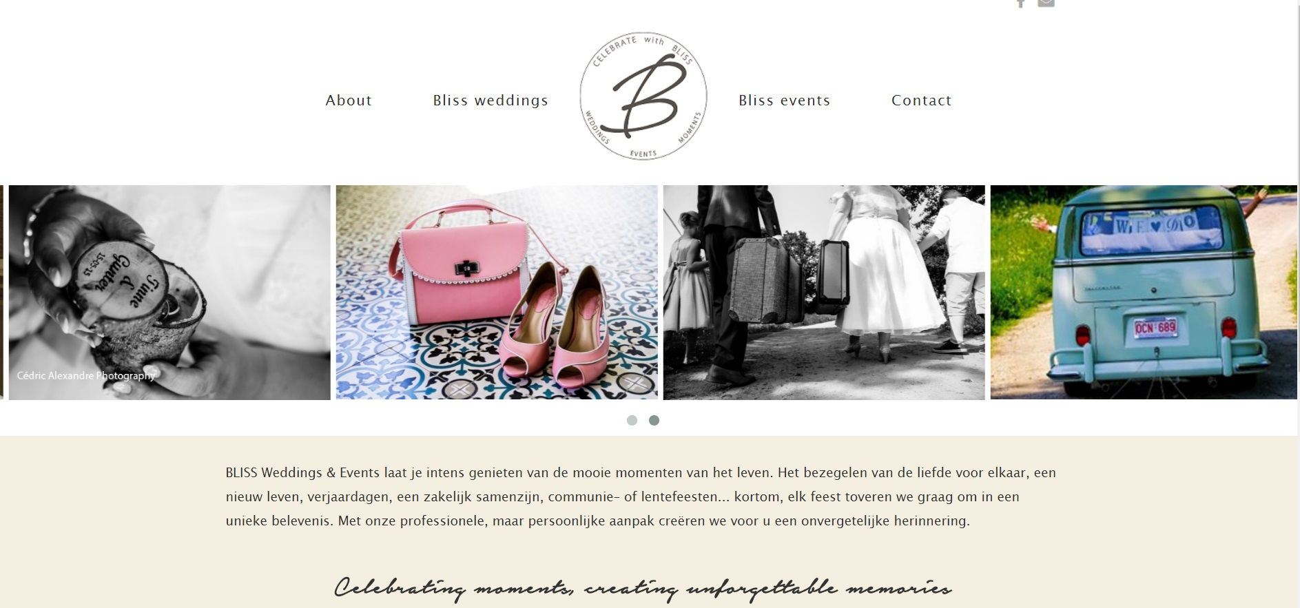 Bliss events | Webdesign weddingplanner