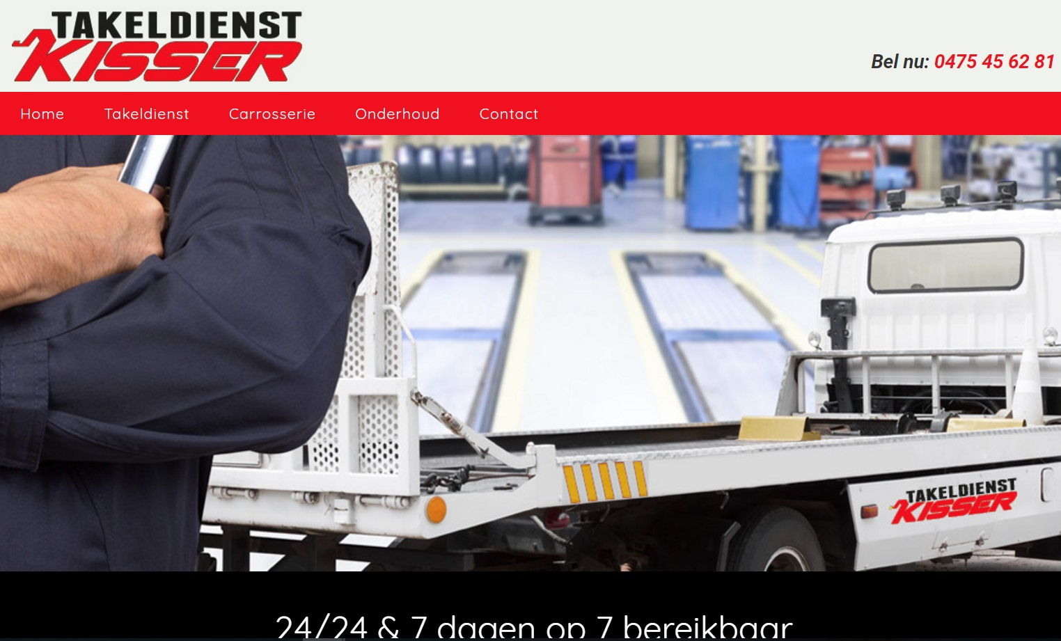 Takeldienst kisser | Webdesign Geel
